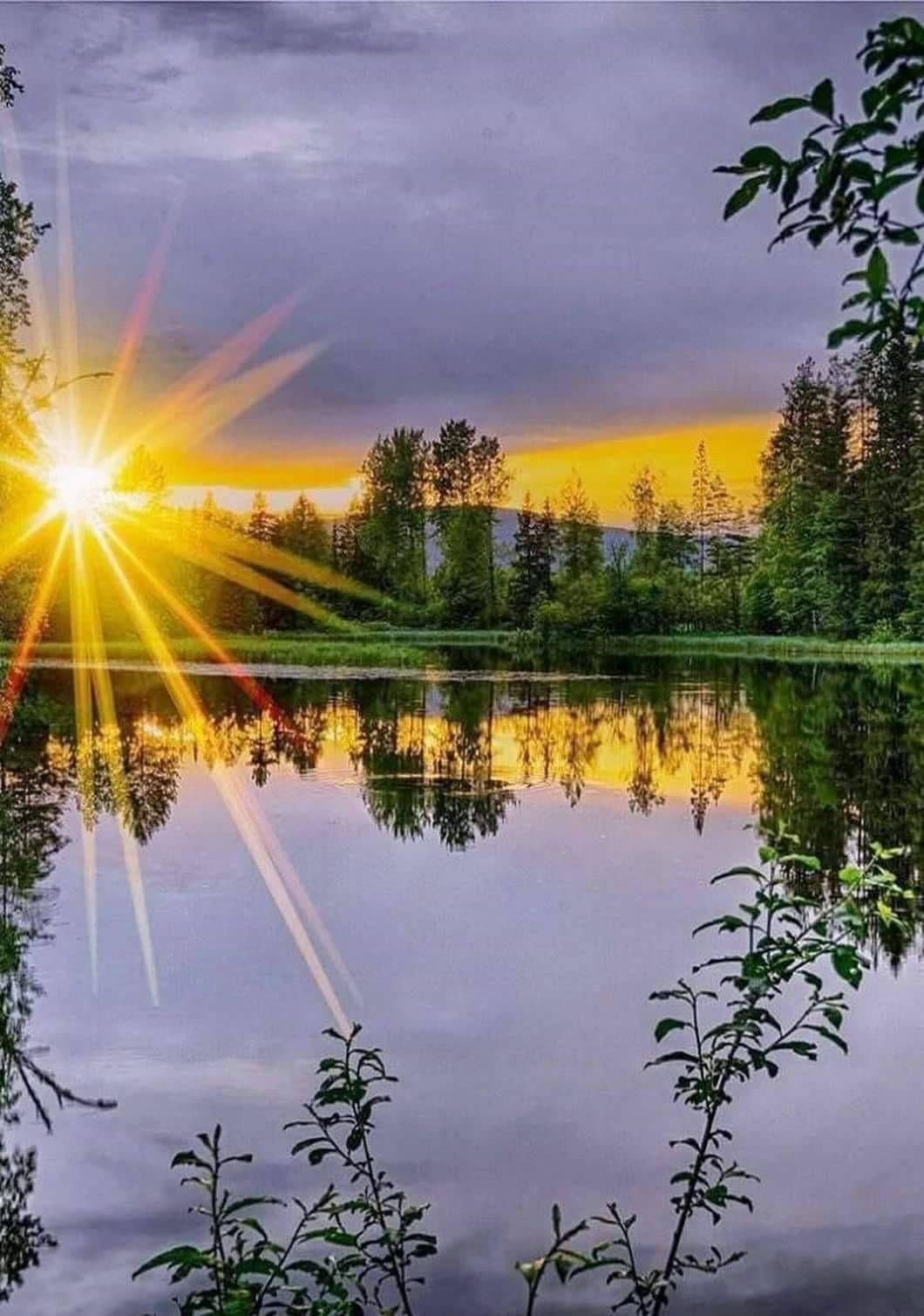 кран открытка доброе утро рассвет цвета